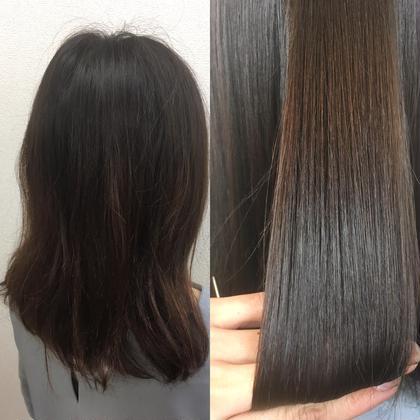 全体的に、うねりと膨らみが気になっていたお客様。髪質改善縮毛矯正で艶髪に✨写真加工なしです(^^) 💘髪質改善No1.LetizbyONE's💘所属・⭐️髪質改善美容師スズキカノト⭐️のスタイル