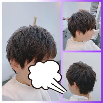 ⭐︎メンズカット+前髪ストレート⭐︎