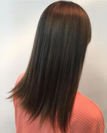 Deepナチュラルストレート★髪に優しい薬剤を使用しており自然体な仕上がりに★※ロング料金別途¥1000