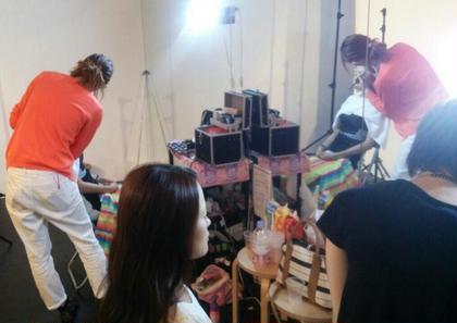 ヘアアレンジの様子 KIREI PHOTO Salon所属・KIREIPHOTO東京のスタイル