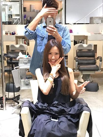 毛先を切りそろえて量感を調節しました  カラーは現在人気色のイルミナカラーを使い夏らしさをアピール! BLANCO G-south所属・向井一裕のスタイル