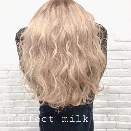 カラー ロング perfect milk tea❤︎