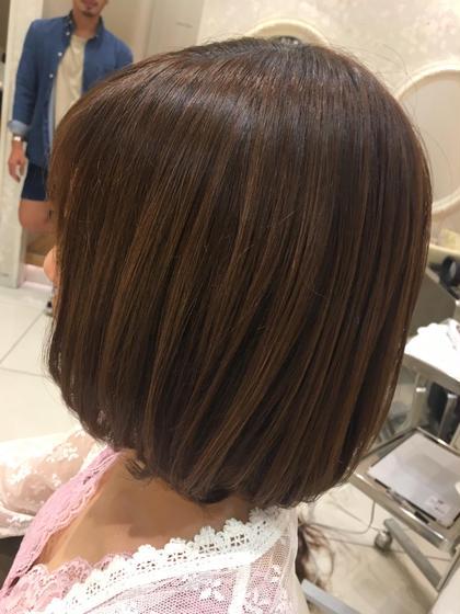 半端な長さでハネやすい毛を セットしなくても可愛いボブにカット。 CAPA小田原所属・高橋結衣のスタイル