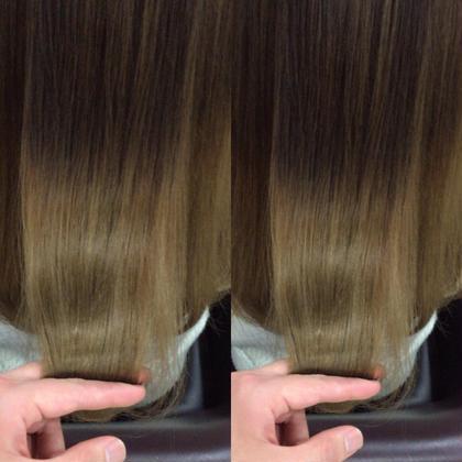 カラー ロング 髪質改善潤艶グレージュ❌サロン専用トリートメント  とても艶の出るミルクティーグレージュに サロンでしか出来ないテーラーメイドトリートメントで ブリーチを3回している髪がこんな髪が艶艶になります‼️  サロン専用トリートメントテーラーメイドトリートメント 3000円から40%OFFの1800円でのご案内。。。 安すぎます。。。