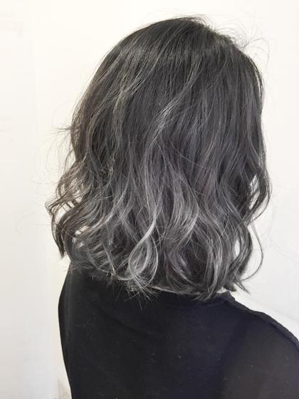 アッシュグレーグラデーション 春花 のヘアスタイル・ヘアカタログ