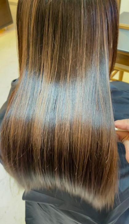☆髪が芯から潤う☆ヒート[flows]カラートリートメント+カット