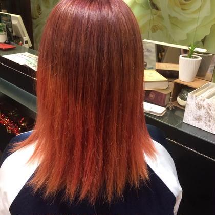 gradation  Twilight×pink  毛先は髪を傷ませないカラートリートメントを使用しています。 EARTH行徳店所属・青木俊のスタイル