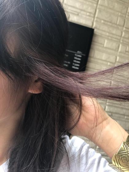 セクションカラー✂︎ 耳にかけた時にわかるポイントカラー✨ くすんだバイオレットピンク(*'▽'*) Hair Salon Re(ヘアサロン アールイー)所属・今村亜未のスタイル