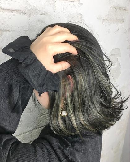カラー ミディアム ハイライト✨Green color