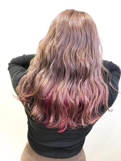 【個性派インナーカラーと髪質改善!】インナーカラー+ファイバープレックス+Aujuaトリートメント