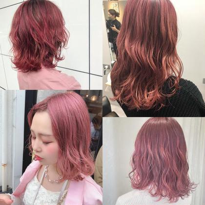 💖春こそピンク💖高発色ピンクならケアブリーチでダブルカラー+oggiottoマスクトリートメント✨暖色得意です🎀