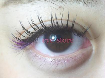 カール:Dカール、目尻カラー部分Cカール 長さ:目頭11mm、全体13mm、カラー部分12mm 太さ:0.15mm  ⭐️部分カラー⭐️ パープルMIX CHARME(eye store)所属・いしばしちえのフォト
