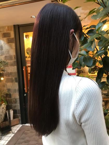 毎日OK!(23歳以下の方限定)新社会人応援メニュー♪小顔カット+ダークカラー(黒染め)+髪質改善トリートメント