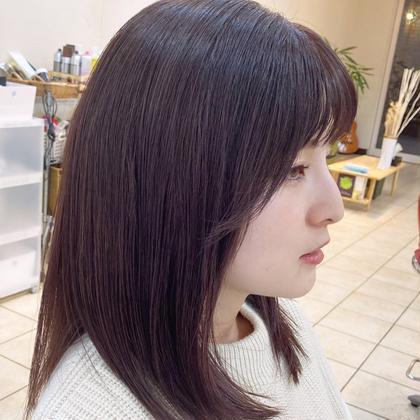 前髪カット+透明感カラー