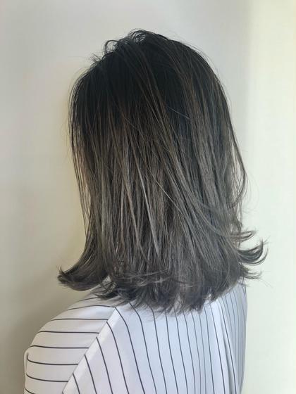 塚本真由のミディアムのヘアスタイル
