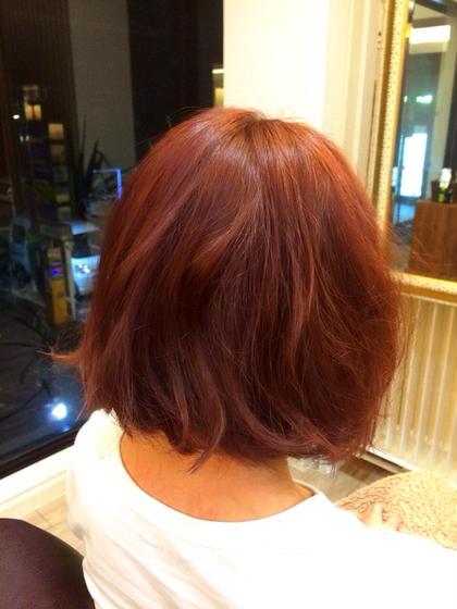 色: スウィートピンク コテ:32㎜で仕上げております! CAPA hair design所属・小川優希のスタイル