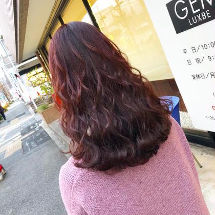 お任せ‼️赤系・ピンク系・紫系・オレンジ系が好きなお客様専用のカラー+カット+スタイリング💖