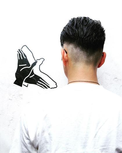 フェードスタイルはバリカンを使って刈り上げにコントラストをつける技術です!今流行中のヘアスタイルです! Johnnymen高田馬場店所属・小川敏輝のスタイル