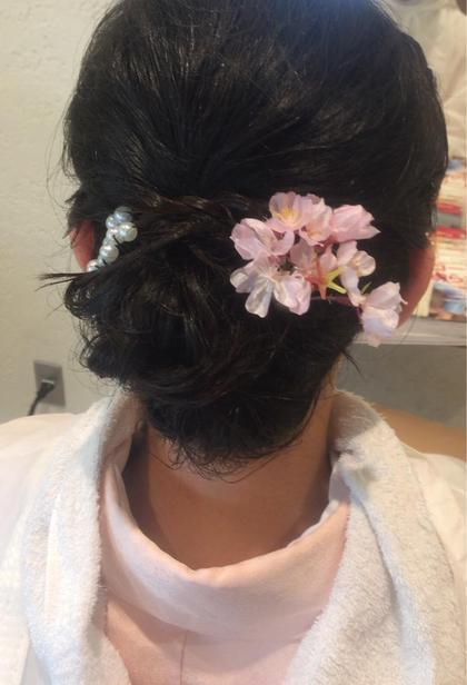 着物のヘアアレンジ♪  ショートボブをアップスタイルに! きちんと感と少しのルーズ感を入れて 着物でも合うスタイルにしました!  美容室fuhcoh 朝日ヶ丘店所属・田村美樹のスタイル