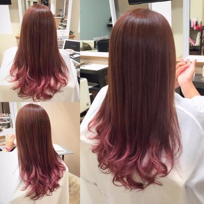 ピンクグラデーション Tiara 香椎店所属・TakashimaYuuのスタイル