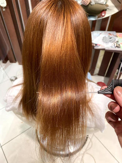 ✨ストパーの超進化版✨【髪質改善】カット+酸性プレミアムストレート《写真の仕上がりはハンドブローのみ》