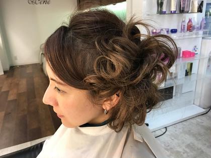 サイドUPのチラシ部分 hair design sCene本店所属・前田優のスタイル