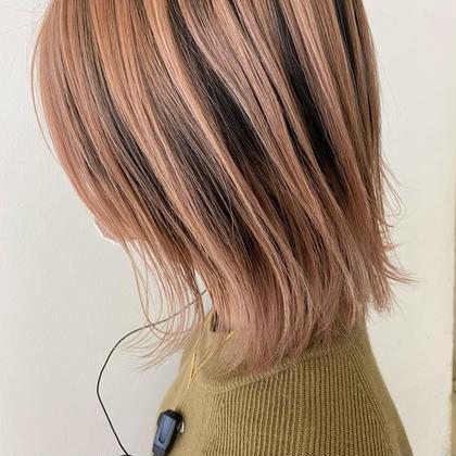 🌟デザインを楽しもう🌟デザインハイライト+全体カラー+髪質改善プチオージュア