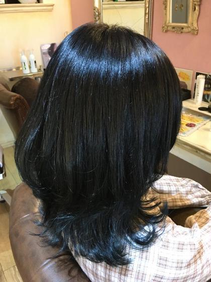 【2回目まで使えます】艶髪になります✨カラー+カット+炭酸泉+潤いトリートメント