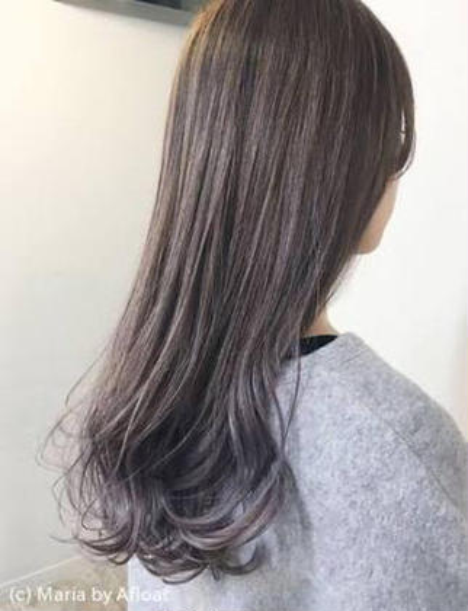 ラベンダーアッシュ 森勇樹のロングのヘアスタイル