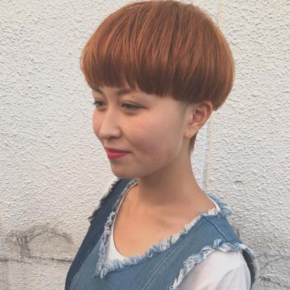 #マッシュ#ショート#オレンジ ViENNA   HAIR所属・髙橋彩のスタイル