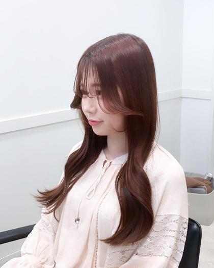(ロング料金無)韓国ヘアカット+上質カラー+トリートメント💫