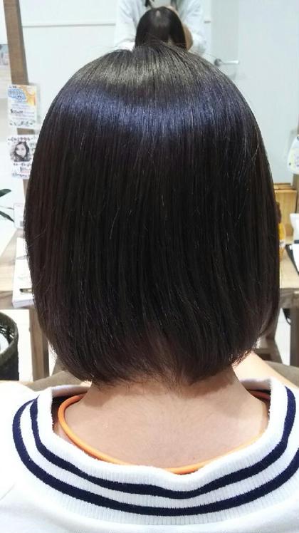 縮毛矯正でツヤツヤに! LiNA  ~Beauty Garden~所属・小崎奨伊のスタイル