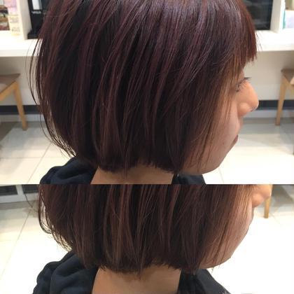 前髪カット & つやつや✨ヘアカラー+毛髪補修トリートメント