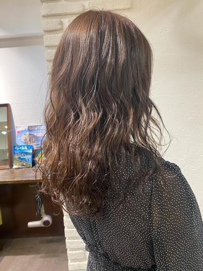透明感カラー+前髪カット+トリーメント