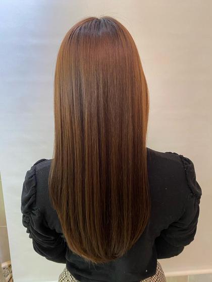 サラサラ縮毛矯正モデル💫+シルクトリートメント