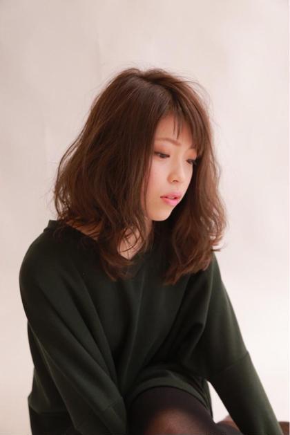 ゆるふわパーマスタイル 色はピンクアッシュ ブロッサム大塚店所属・永野玄のスタイル