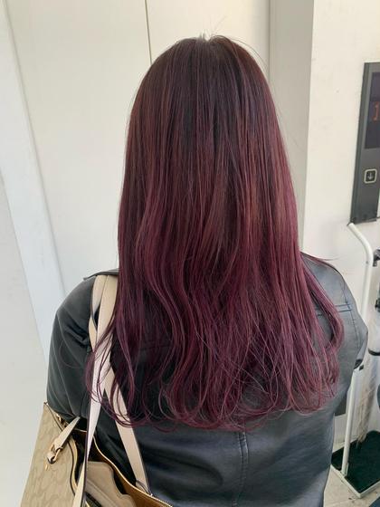 ✨ケアブリーチ+ケアカラー+oggiotto+コテ仕上げ✨髪質改善✨ダブルカラー、ハイライト、インナーカラー✨