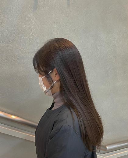 《人気NO.3✨》事前ダメージケア付き!小顔カット+透明感艶カラー+内部補修+選べる髪質改善シャンプー