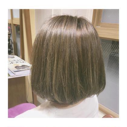 high light + navy×mat = ♡ hair salon LOERUN所属・笠原めぐみのスタイル