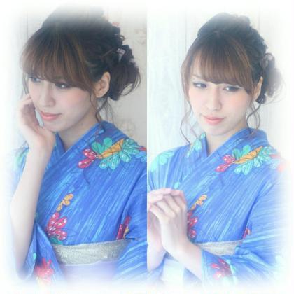 浴衣ヘアアレンジ ar+hairsalon所属・米沢芽伊のスタイル
