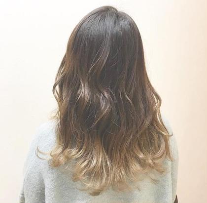グラデーションカラー P-brands hair kasuga refrain所属・國武 桜のスタイル