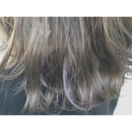 マットアッシュに 薄紫のポイントカラー RUCCA(stylist、creator)所属・中森飛翔のスタイル