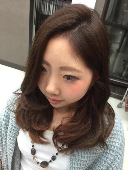 Pink Ahs♡ インナーにピンクのハイライトをいれました೨̣̥*♪ ヘアメイクウィル 西宮店所属・スタイリスト相原愛梨のスタイル