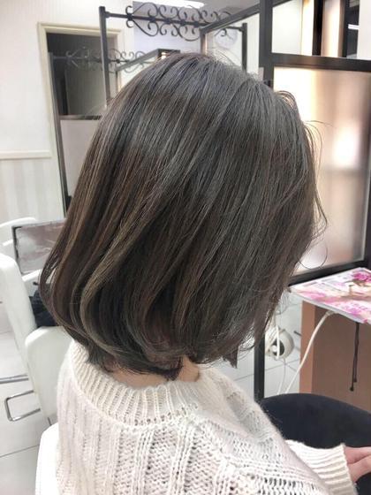 ✨人気の定番メニュー✨カット+外国人風透明感カラー+極潤トリートメント❣️素敵な髪型にしてヘアカラーも⭐️
