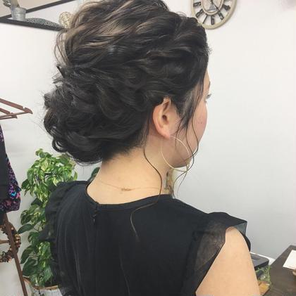 結婚式ヘアセット ukam.のヘアアレンジ