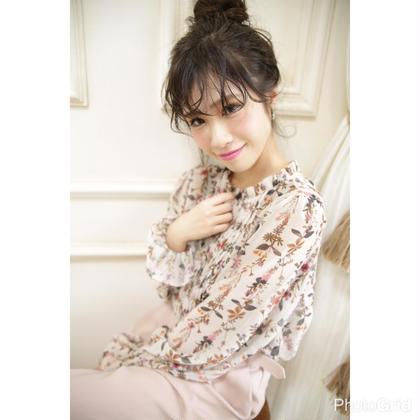 【簡単アレンジ】お団子まとめ髪 NYNY 松井山手店所属・打越裕樹のスタイル