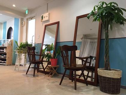 お店は、 緑がたっぷりで、 アットホームな感じです^ - ^  3席のみの、 プライベート空間で、 ごゆっくりとお過ごし下さい^ - ^  お子様連れや、 ご家族、お友達同士で、 お友達の家に遊びに行く感覚でお越し下さい^ - ^   Roquat Salon所属・清水玲歌のスタイル