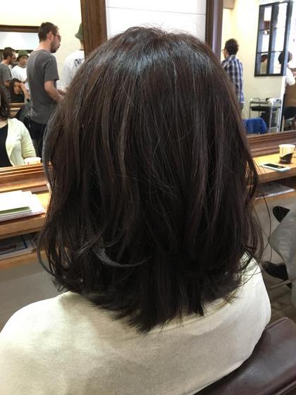 柔らかく縮毛矯正をかけて、カラーはツヤのあるバイオレット系✨毛先は巻いて仕上げ^ ^ opshair     anello所属・フルヤアキコのスタイル