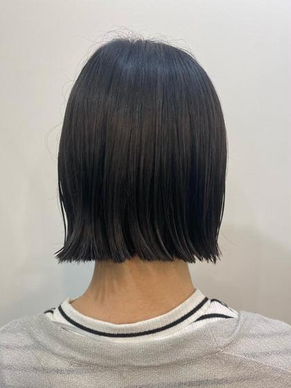 🍋🍨前髪カット+カラー(リタッチ)+クイックトリートメント+コテ巻き仕上げ
