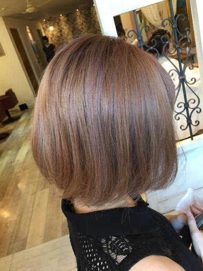 艶髪になります✨イルミナカラー+カット+ブリーチ+炭酸泉+潤いトリートメント
